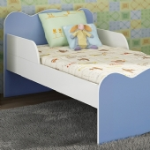 MINI CAMA INFANTIL AZUL (MC8084AZ)