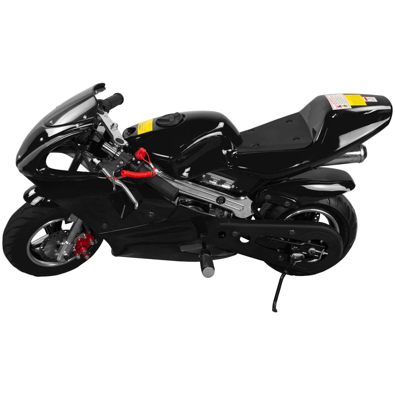 Mini Moto Ninja 49cc Freio a Disco 2 tempos TMN4917- PR - P cor Preto