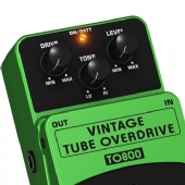 PEDAL VINTAGE TUBE OVERDRIVE PARA GUITARRA - TO800 (2755)