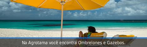 Linha de Ombrelones e Gazebos