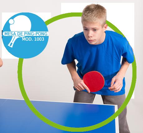 Mini Mesa de Ping-Pong, T�nis de Mesa , Tampo em MDP 12 mm, P�s Dobr�veis - 1003K