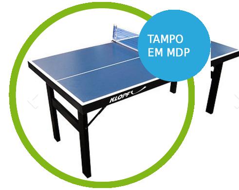 Mini Mesa de Ping-Pong, Tênis de Mesa , Tampo em MDP 12 mm, Pés Dobráveis - 1003K com Tampo em MDP
