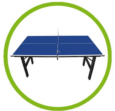 Dados técnicos da Mini Mesa de Ping-Pong, Tênis de Mesa , Tampo em MDP 12 mm, Pés Dobráveis - 1003K