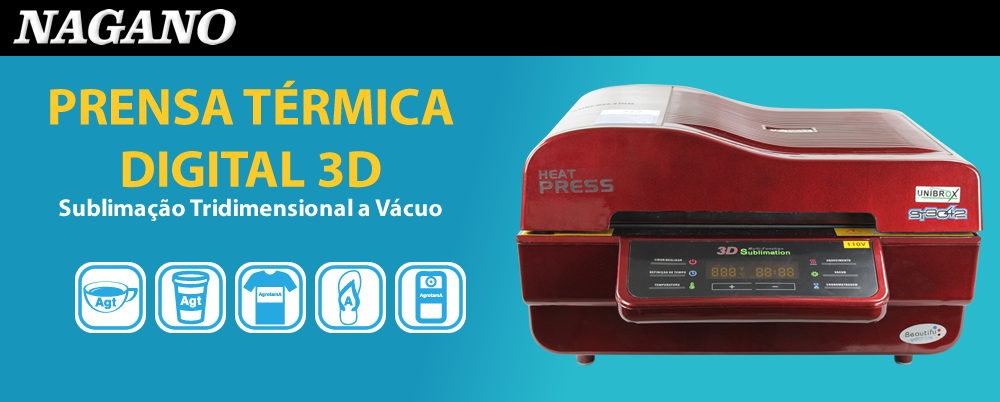 Prensa Térmica Digital 3d -sublimação Tridimensional A Vácuo