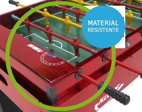 Mesa de Pebolim, Luxo, Varões embutidos, Totó Futebol - 1050 - Klopf com Material Resistente
