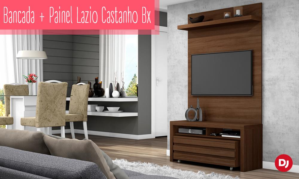 Bancada com Painel Lazio Modelo Castanho BX