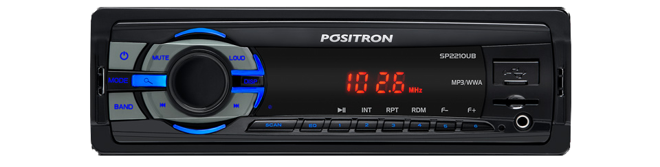 Som MP3 SP2210 UB com USB SD Card e P� Frontal - Positron