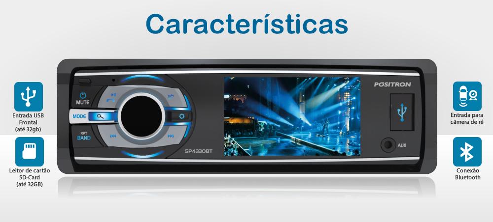 DVD Player SP4330 BT - Positron Características