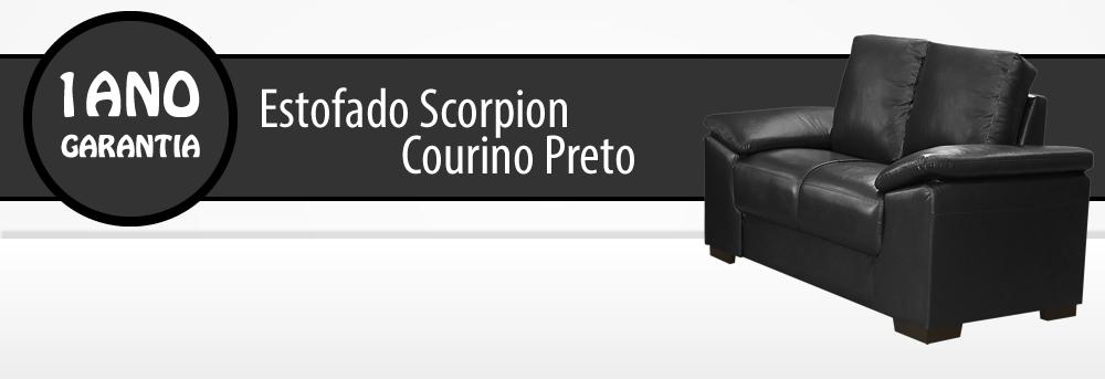 Estofado Scorpion 3 Lugares Corino Preto