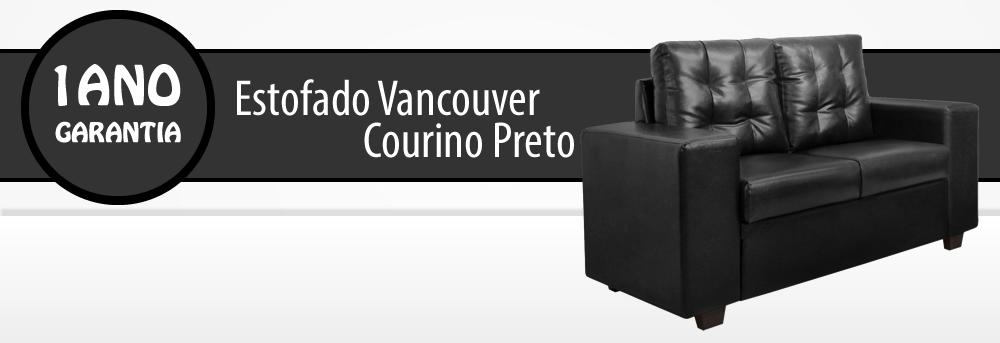 Estofado Vancouver 2 Lugares Corino Preto