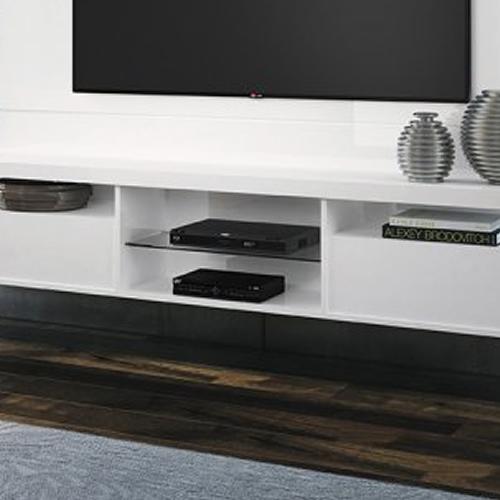 Painel Home Suspenso Livin 1.8 para TVs at� 55 Pol, 2 Portas basculantes, Branco