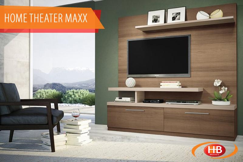 Home Theater Maxx, 2 gavetas - Macchiato / Naturale - 6551