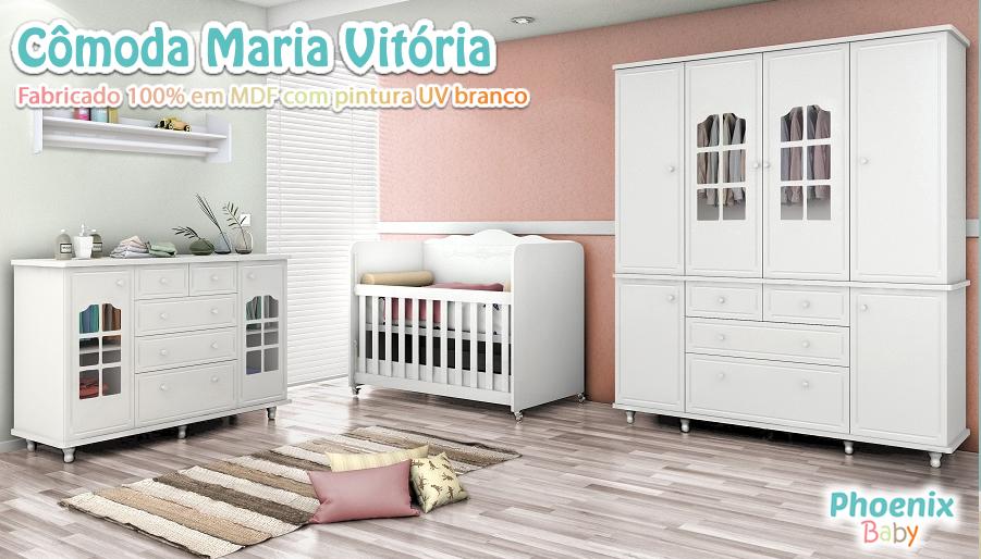 Cômoda Maria Vitória 5 Gavetas e 2 Portas