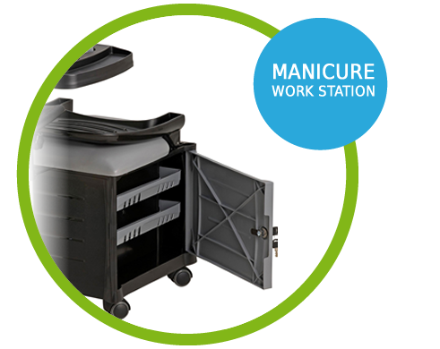 Manicure Work Station Cirandinha Veneza Cadeira de Manicure - 755pm - Dompel