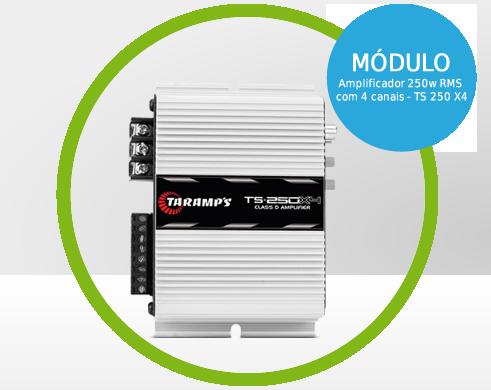 Modulo Amplificador 250w RMS com 4 canais - TS 250 X4