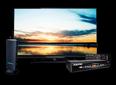 Antena de TV Interna 4 em 1 VHF UHF FM e HDTV Digital - DTV-4500 Aquário