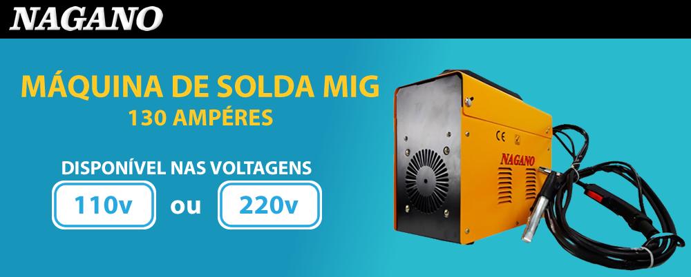 Máquina MIG, 130 Ampéres - Monofásica , 60 Hz- MN130A