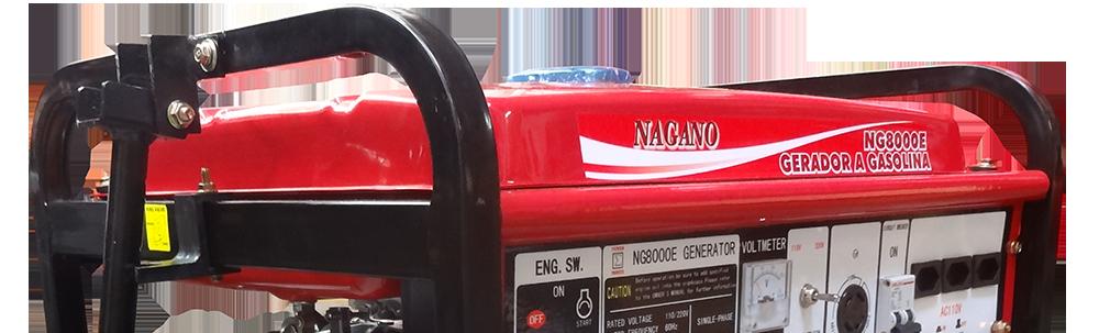 Gerador de Energia a Gasolina 8,125 kva partida el�trica Monof�sico 110/220v - NG8000E