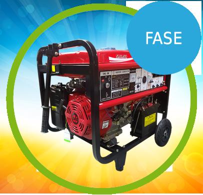 Gerador de Energia a Gasolina 8,125 kva partida elétrica Monofásico 110/220v - NG8000E - Fase