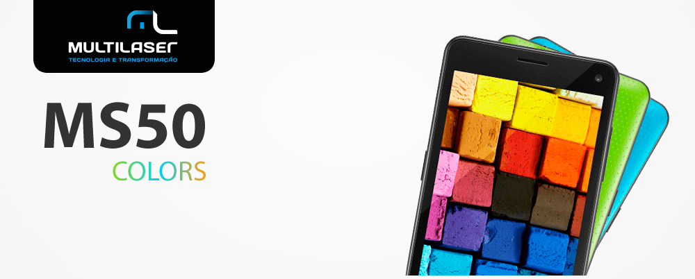 Smartphone Multilaser MS50 Colors Preto P9001