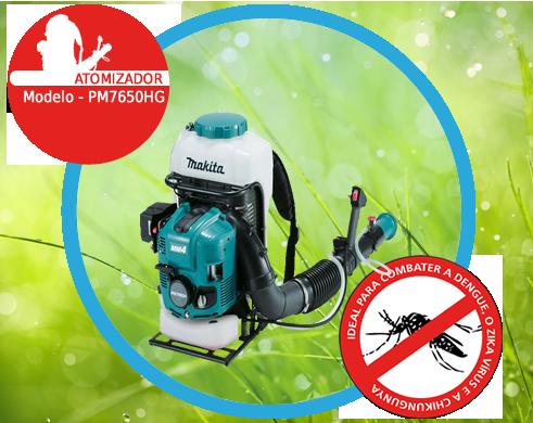 Atomizador a Gasolina 75.6 cc 4st - PM7650HG - Makita - Ideal para combater a Dengue o Zika V�rus e a Chikungunya