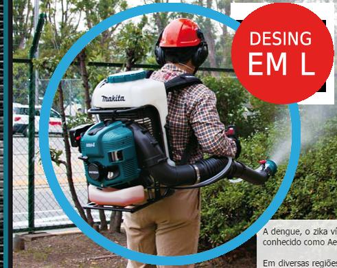 Atomizador a Gasolina 75.6 cc 4st - PM7650HG - Makita - Ideal para combater a Dengue o Zika Vírus e a Chikungunya