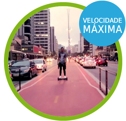 Skate Elétrico 6.5 - Bivolt - Urban Rover Velocidade Máxima