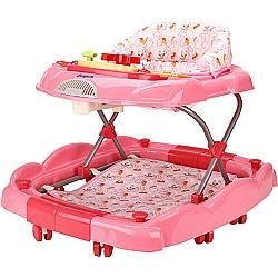 Comprar Andador Baby Coup� Rosa Oito rod�zios com Encosto Acolchoado-Burigotto