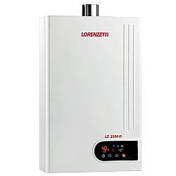 Comprar Aquecedor de Água a Gás, GN/GLP, 23,5 Litros por Minuto - LZ 2500D-Lorenzetti