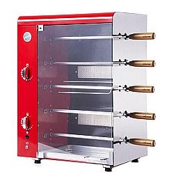 Comprar Assador Vertical Com  Stang 05 Espetos a Gás Vermelho com Rechaud-Anodilar