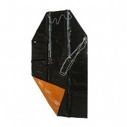 Comprar Avental de pvc forrado preto e laranja 120 x 70 cm-Ledan