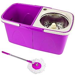 Comprar Balde Duplo Spin Mop Easy Clean 360 Cesto Inox - Roxo-Tander Home