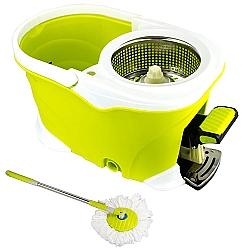 Comprar Balde Spin Mop 360 Inox com Pedal Alumínio Completo - Verde-Tander Home