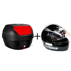 Comprar Ba� moto bauleto 28 Litros smart box motocicleta com Capacete liberty four-Pro Tork