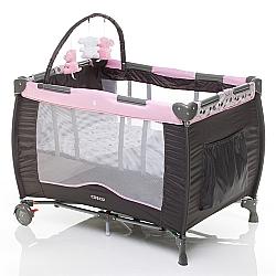 Comprar Berço Portátil Toybar, para bebês, NBR Rosa com Ursinhos - C66-Cosco