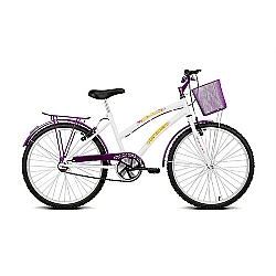 Comprar Bicicleta Aro 24 Breeze Branco e Violeta-Verden Bike
