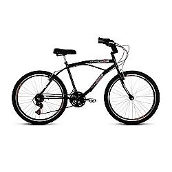 Comprar Bicicleta Aro 26 Confort Preto com 21 Marchas-Verden Bike