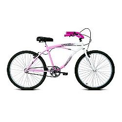Comprar Bicicleta Aro 26 Confort Rosa e Branco-Verden Bike