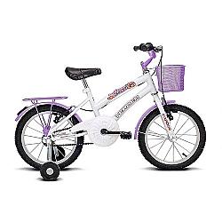 Comprar Bicicleta Infantil Aro 16 Breeze Branco e Lilás-Verden Bike