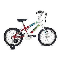 Comprar Bicicleta Infantil Aro 16 Ocean Branco e Vermelho-Verden Bike