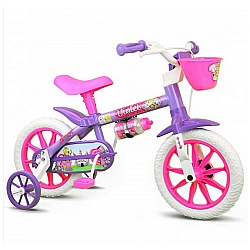 Comprar Bicicleta Infantil Menina Aro 12 violet Nathor-Nathor