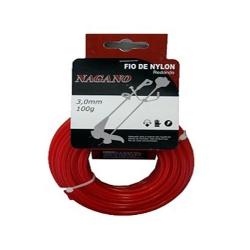 Comprar Bobina de fio de nylon redondo 3,0 mm 100 gramas - para roçadeira-Nagano