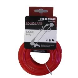 Comprar Bobina de fio de nylon quadrado 1,6 mm 100 gramas - para roçadeira-Nagano