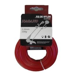 Comprar Bobina de fio de nylon quadrado 2,0 mm 100 gramas - para roçadeira-Nagano