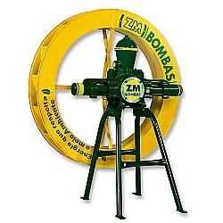 Comprar Bomba ZM 44  Roda D Água 1,00 x 0,15 Metros Cavalete Única-ZM Bombas