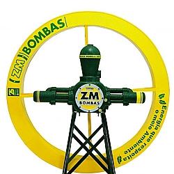 Comprar Bomba ZM-51 com roda 1.40x0.18 metros e cavalete-ZM Bombas