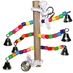 Comprar Brinquedo de corda e 6 sinos para Periquitos, Cacatuas, Calopsitas-Importado