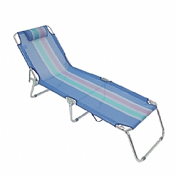 Comprar Cadeira espreguiçadeira de aluminio - AZUL-MOR