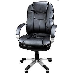 Comprar Cadeira Giratória de Escritório Presidente, Executiva , Couro Sintético-Tander Home