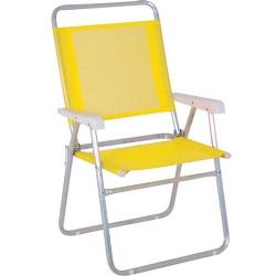 Comprar Cadeira espreguiçadeira de aço amarela - MASTER-MOR